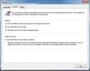 Ashampoo Undeleter 1.11 - náhled