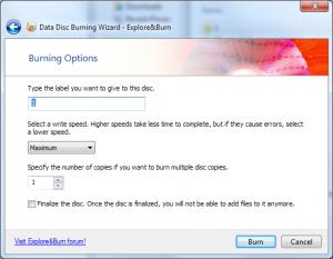 Explore&Burn 1.7.1 - náhled