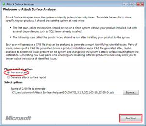 Attack Surface Analyzer 1.0 - náhled