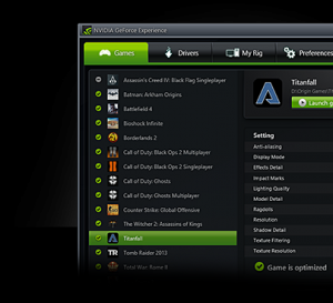 NVIDIA GeForce Experience 3.6.0.74 - náhled