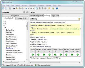 CodeSnip 4.11.1 - náhled