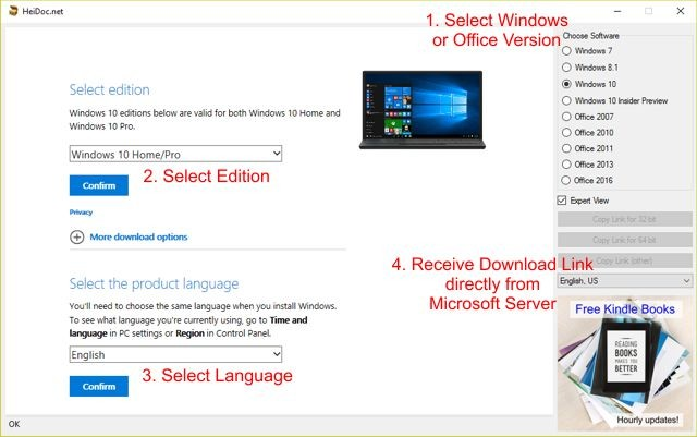 download windows 10 home edition iso