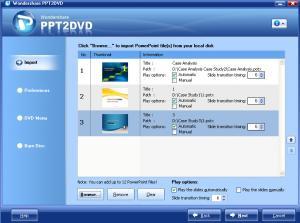 Wondershare PPT2DVD 5.5.0.319 - náhled