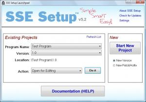 SSE Setup 8.7 - náhled