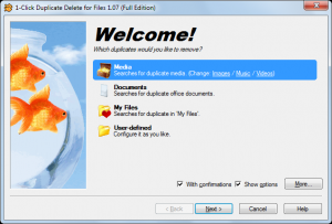 1-Click Duplicate Delete for Files 1.08 - náhled