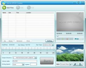 GiliSoft Movie DVD Creator 3.1 - náhled