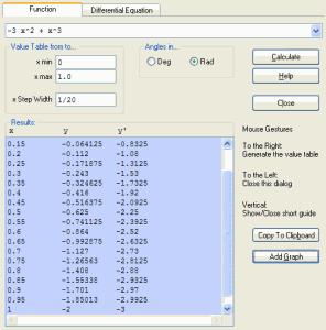 WZGrapher 0.95 - náhled