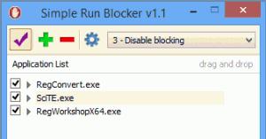 Simple Run Blocker 1.1 - náhled
