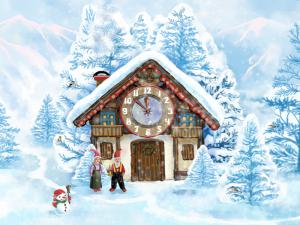 Christmas House Clock Screensaver 1.1 - náhled