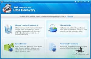 Wondershare Data Recovery - čeština - náhled