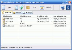 BackUpTime  1.6 - náhled