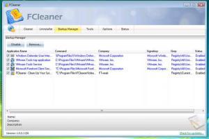 FCleaner 1.3.1.621 - náhled
