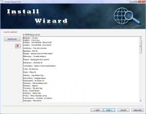 Install Wizard 2.0.0 - náhled