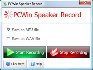 PCWin Speaker Record 1.1.7 - náhled