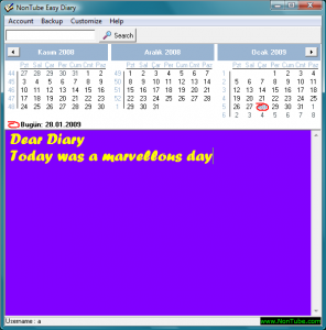 Easy Diary 1.30 - náhled