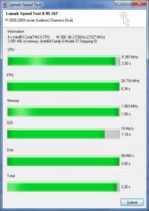 Lamark Speed Test 0.95.167 - náhled