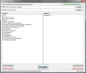 Compare Folders 1.2 - náhled