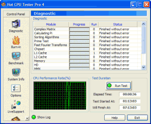 Hot CPU Tester Pro 4.4 - náhled