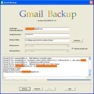 GMail Backup 0.107 - náhled