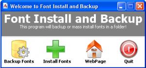 Font Install & Backup - náhled