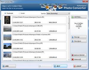 Ashampoo Photo Converter 2.0.0 - náhled