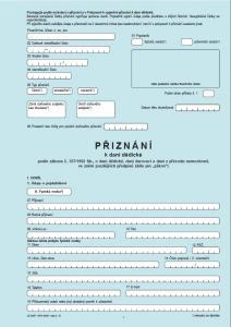 Daň dědická - formuláře - náhled