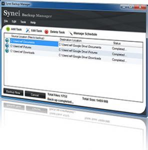 Synei Backup Manager 1.12 - náhled