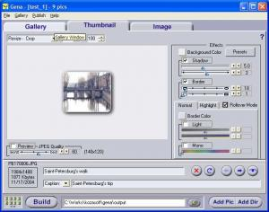 Gena Web Gallery Creator 1.7.5 - náhled