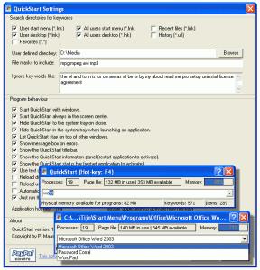 QuickStart 2.3.11.72 - náhled