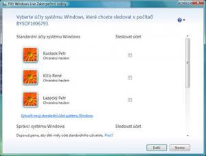 Windows Live - Zabezpečení rodiny - náhled