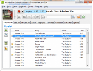 GrooveWalrus 0.382 - náhled