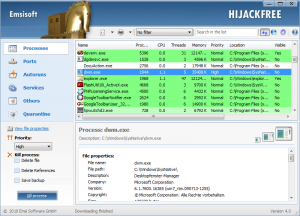 Emsisoft HiJackFree 4.5 - náhled