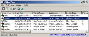 USBLogView 1.26 - náhled