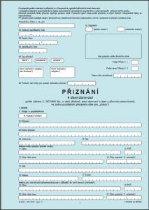 Daň darovací - formuláře - náhled
