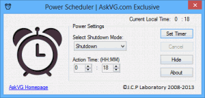 Power Scheduler 1.0 - náhled