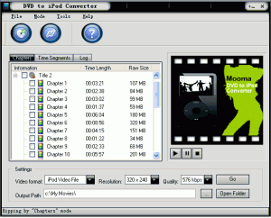 Mooma DVD to iPod converter 1.2 - náhled