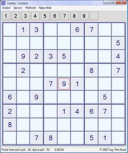 Sudoku by Petr Musil 1.0.0 - náhled