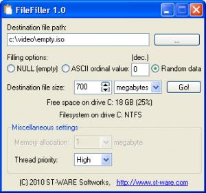 FileFiller 1.0 - náhled