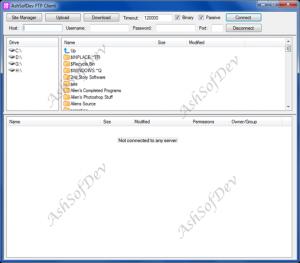 AshSofDev FTP Client 1.0 - náhled