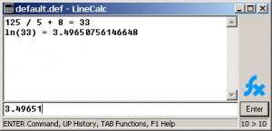 LineCalc - kalkulačka - náhled