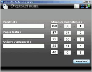 UTP - univerzálny testovací program 1.00 - náhled