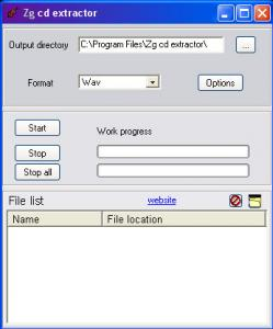 Zg cd extractor 1.01 - náhled