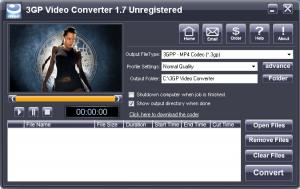 iWellsoft 3GP Video Converter 2.1 - náhled