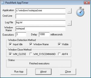 PassMark AppTimer 1.0 #1010 - náhled