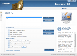 Emsisoft Emergency Kit 9.0.0.4412 - náhled