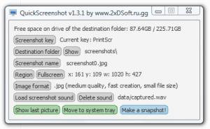 QuickScreenshot 1.3.1 - náhled