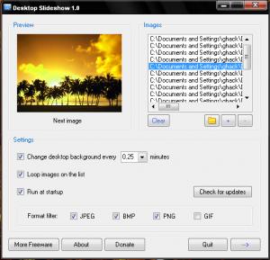 Desktop Slideshow 1.5 - náhled