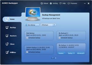 AOMEI Backupper 4.0.6 - náhled