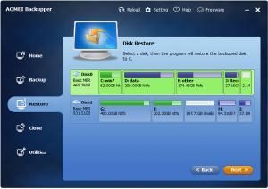 AOMEI Backupper 3.2 - náhled