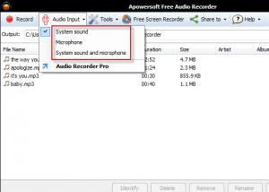 Apowersoft Free Online Audio Recorder 3.3.5 - náhled